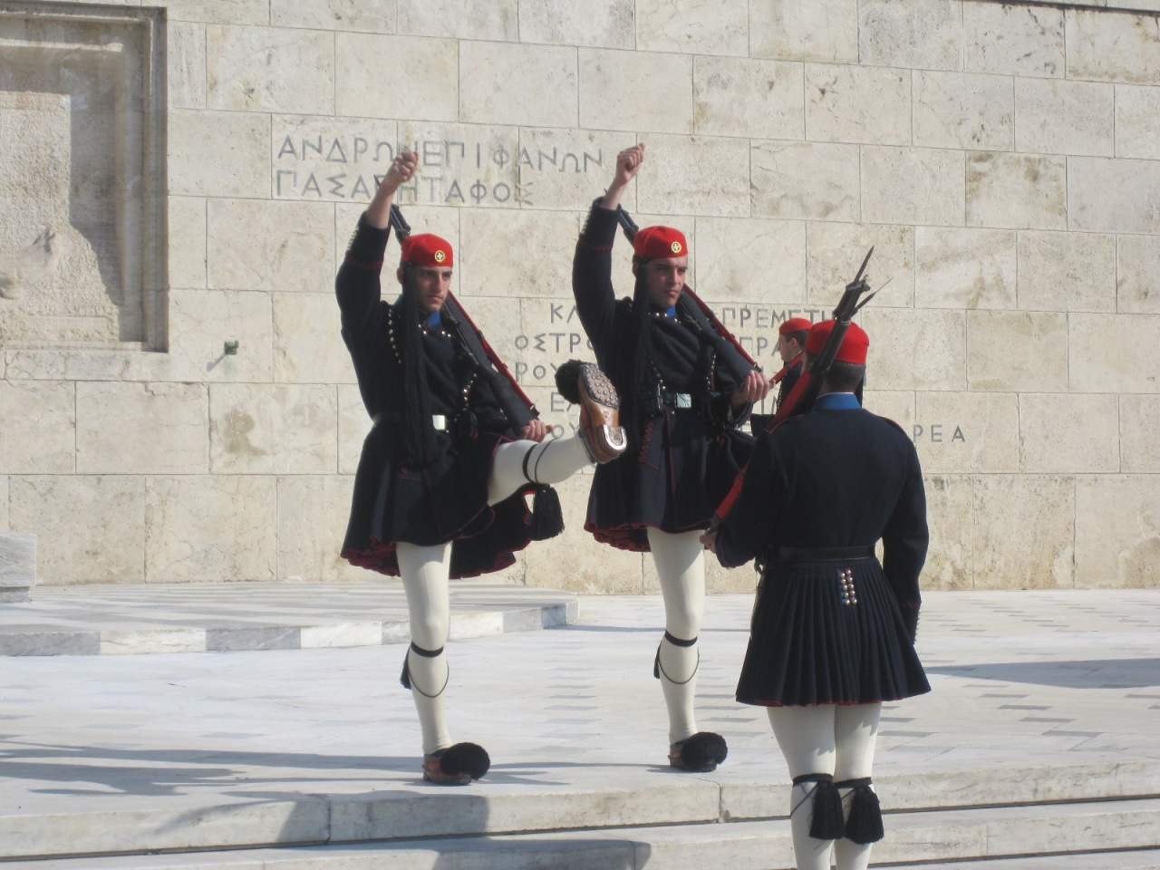Ceremonial guard change at the Greek Parliament - Athens