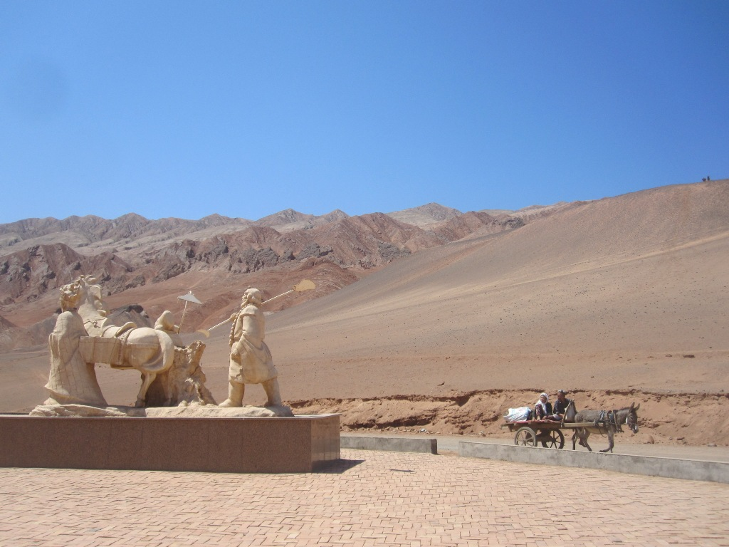 In the middle of the Taklamakan desert