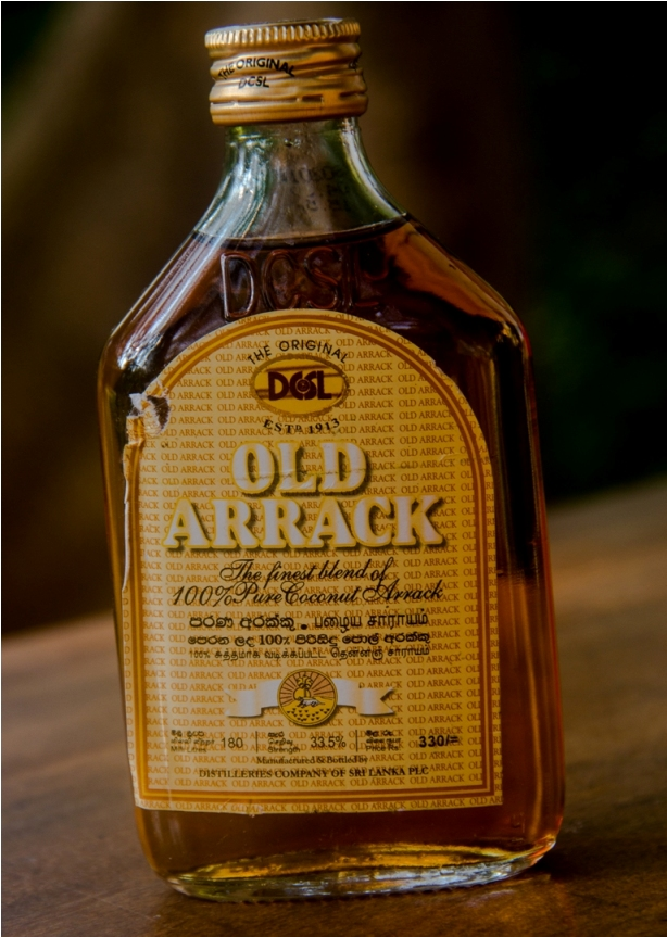 Old arrack. India Sri Lanka Vegan Food