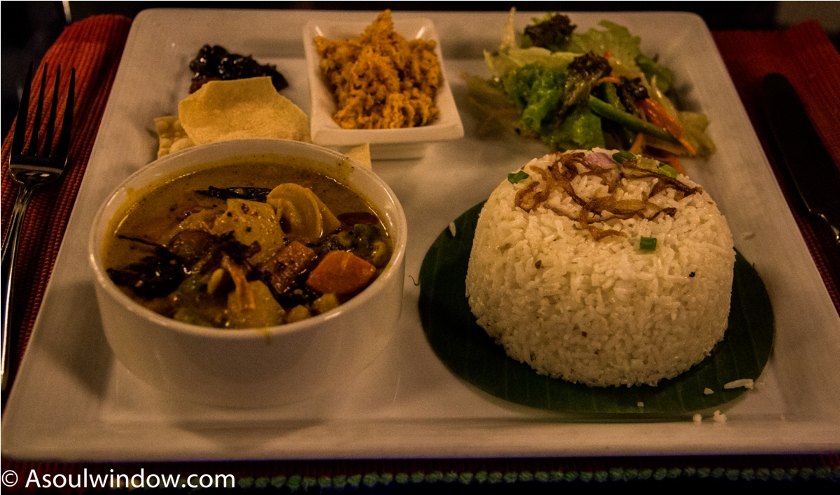 Vegetarian curry and rice. India Sri Lanka Vegan Food