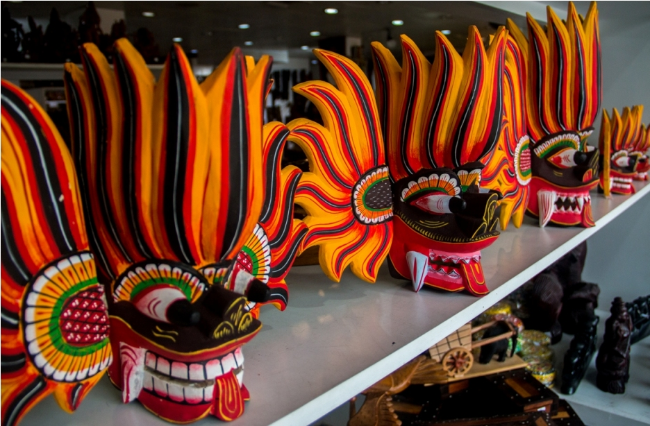 Wooden masks in Colombo. Sri Lanka Shopping Guide