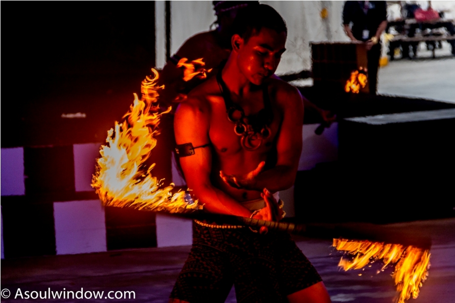 Fire Show. Cartoon Network Amazone Water Park, Pattaya Thailand