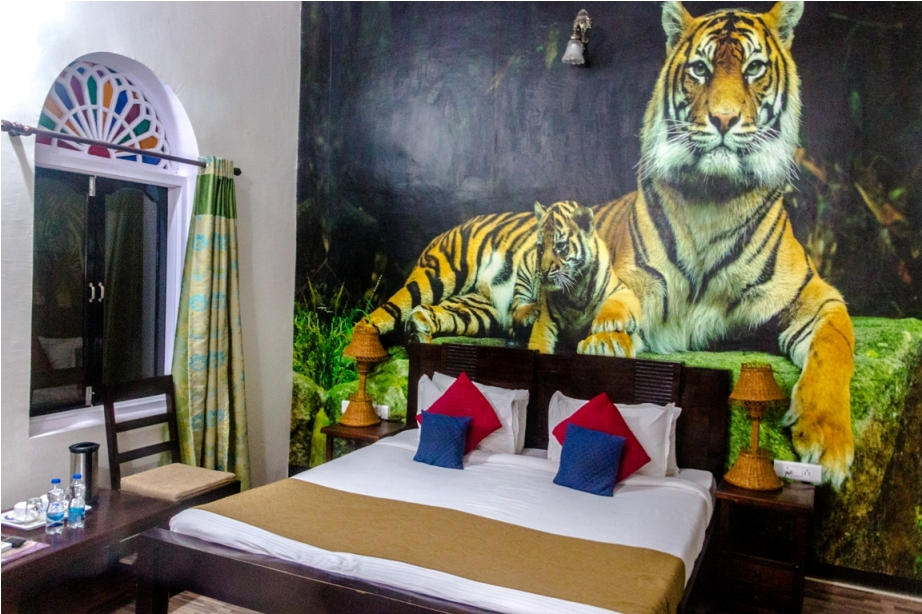 Ranthambore Heritage Haveli. Kumbha T34 Tiger safari, Ranthambore National Park, zone 6 Rajasthan, Incredible India (3)