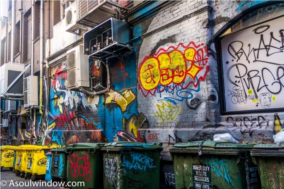 Dustbin Drugs Heroin Grafitti Street Art Hosier Lane Melbourne Australia