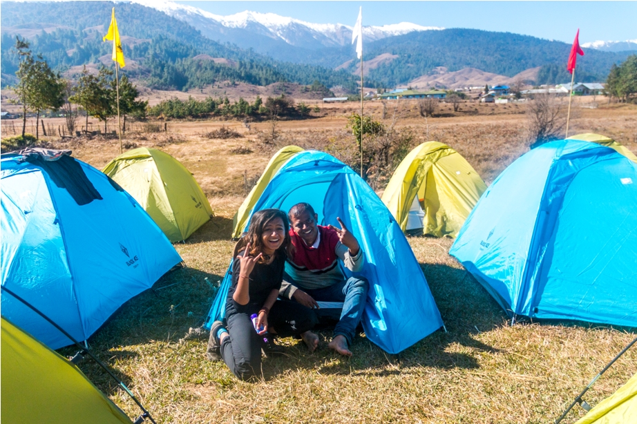 Camping Adventure At Mechuka Arunachal Pradesh India