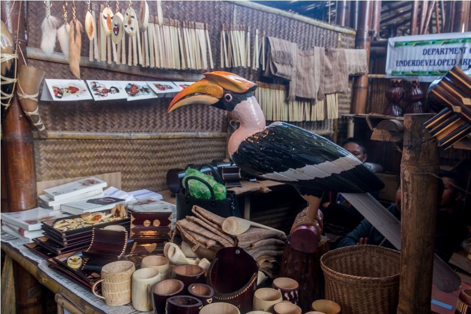 Hornbill festival Nagaland India shopping area