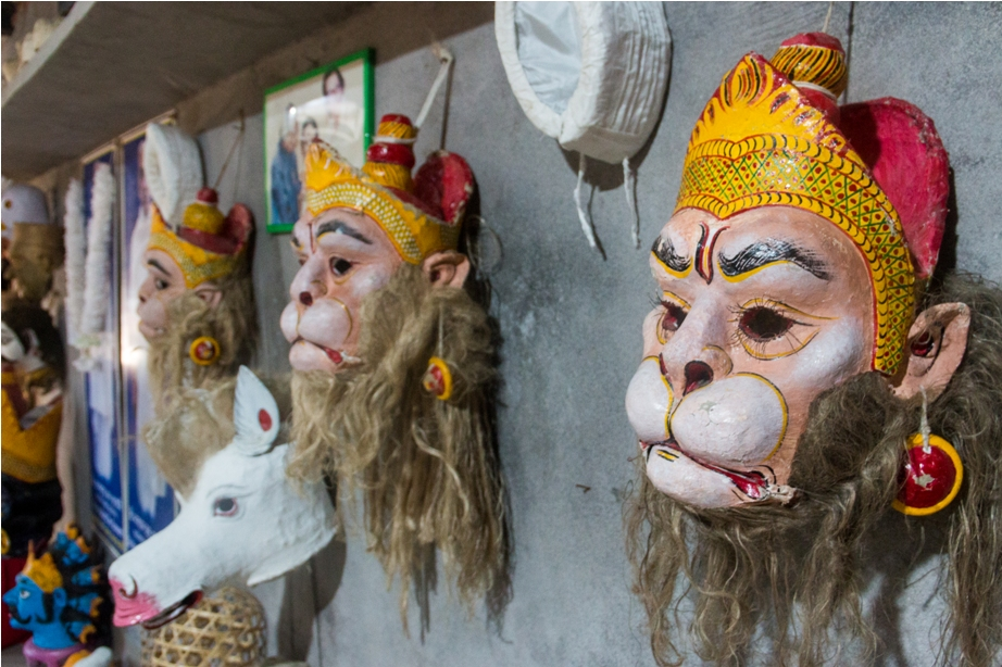 Mask Making Majuli River Island Assam India (2)