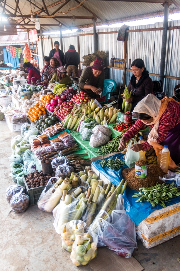 Vegetable Market Lambui Ukhrul Manipur North East India