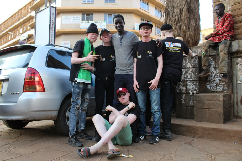 Boys on an outreach mission in the outskirt of Nairobi