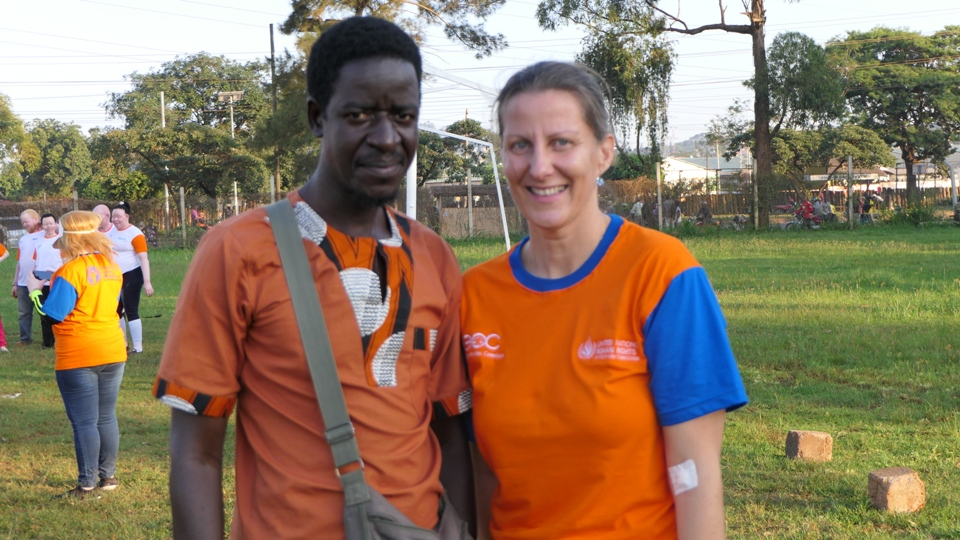 pat and Nicole fron UN Human Rights Ugandan
