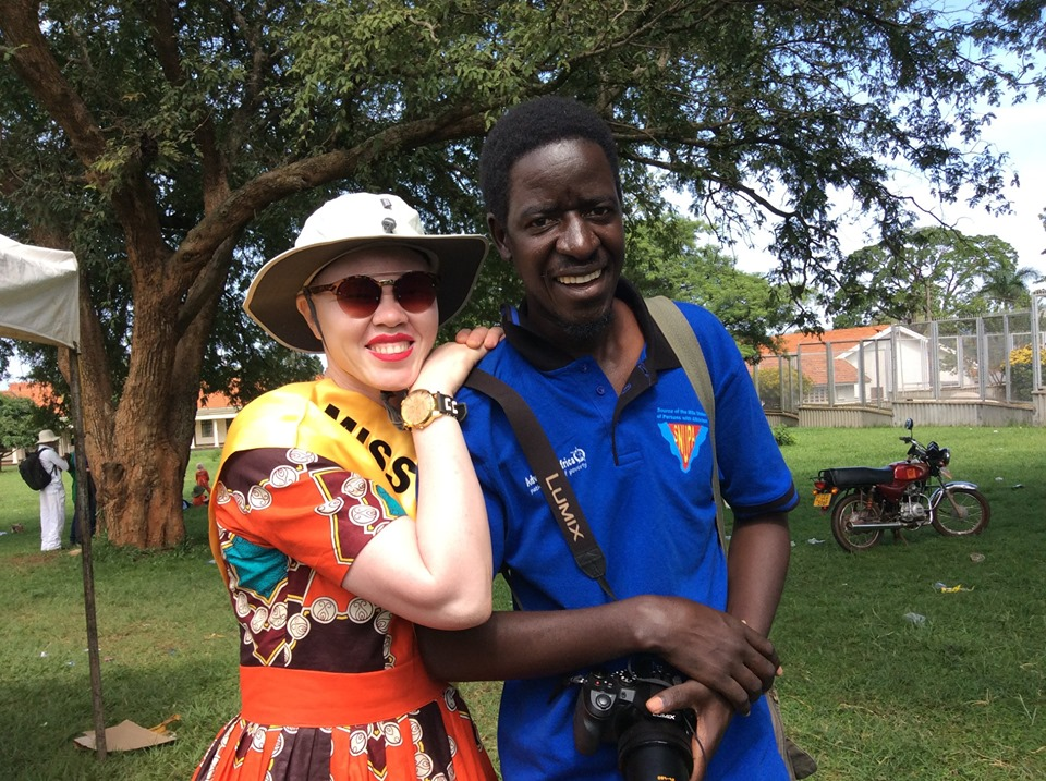 Pat and Olive Auma Miss Albinism Uganda