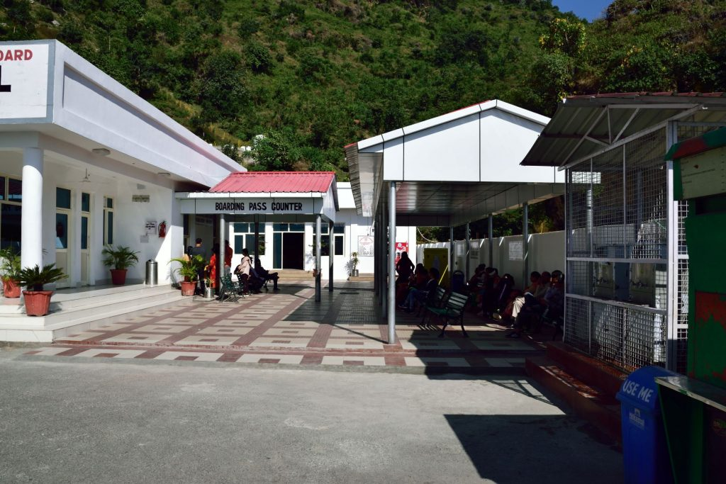 Boarding pass counter for helicopter ride in Mata Vaishno Devi. Book helicopter Vaishno Devi