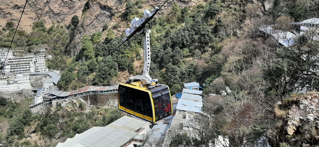 Udankhalota or Vaishno Devi Cable car from Bhawan to Bhairavnath Temple